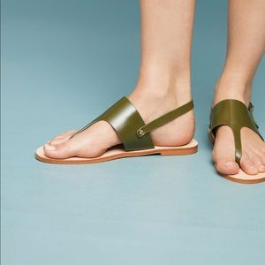 Anthropologie leather thing sandal